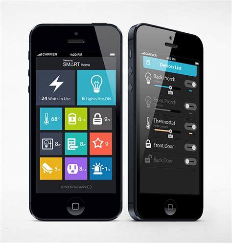 layout app samsung samsung smart home app concept on app design served