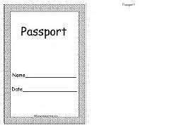 pretend passport template pretend passport template for a printable student