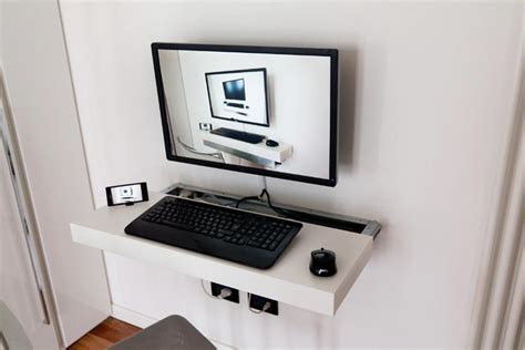 wall mounted floating desk ikea minimalist white floating desk ikea for large monitor
