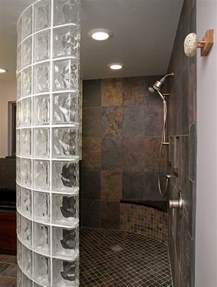 glass walls for shower new thinner glass block shower wall product saves money