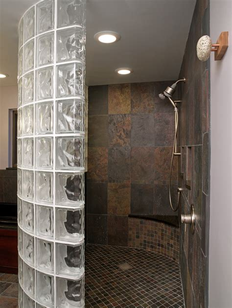 Glass Wall Shower by New Thinner Glass Block Shower Wall Product Saves Money