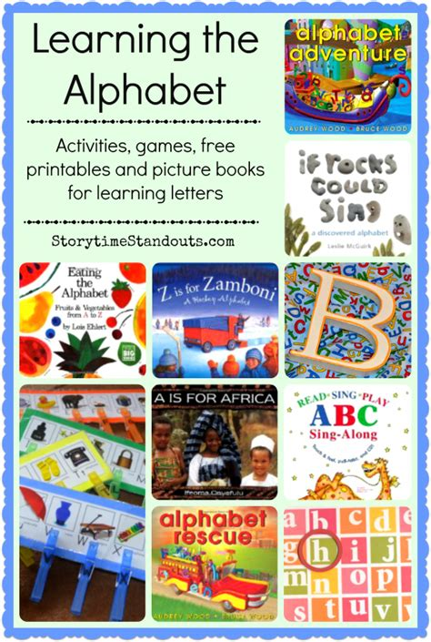 alphabet picture books alphabet recognition books and printables for