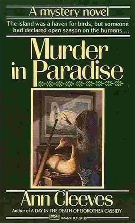 The One With Murder In Paradise murder in paradise palmer jones book 3 by cleeves