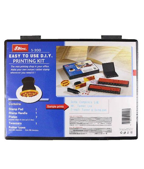 rubber st printing kit shiny s 200 rubber st easy to use diy printing kit buy