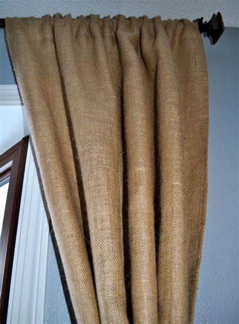 burlap lined curtains black out lined burlap window curtain panel 45 quot wide