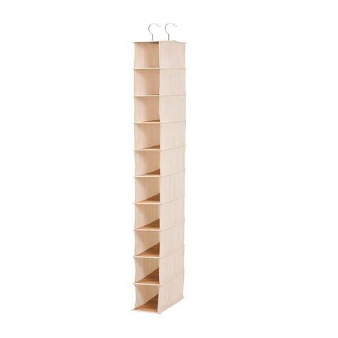 Vertical Shoe Racks For Closets by Closetmaid Impressions 3 Shelf Chocolate Shoe Organizer