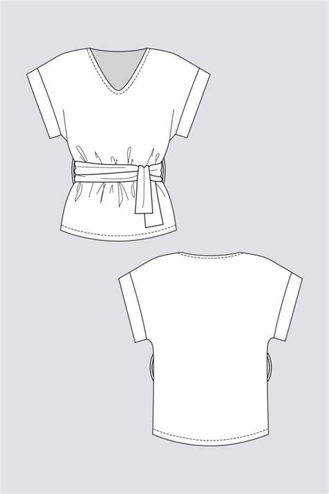sointu kimono tee named clothing sewing patterns