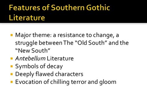 Major Themes In Southern Literature | southern gothic literature
