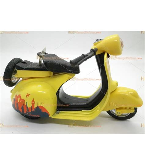 toptan oyuncak cek birak metal sesli isikli motosiklet sari