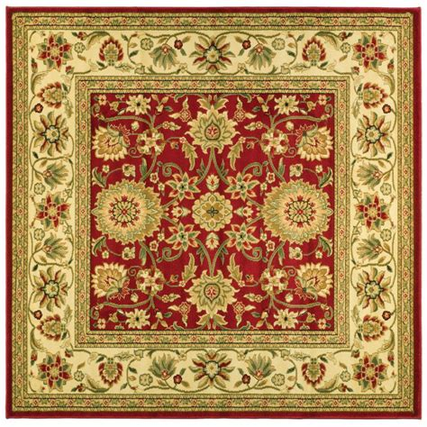 6 X 6 Area Rugs Safavieh Lyndhurst Ivory 6 Ft X 6 Ft Square Area Rug Lnh212f 6sq The Home Depot