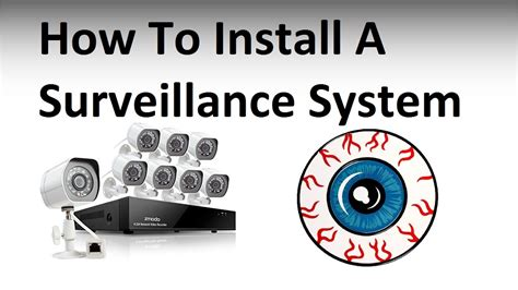 home security system surveillance setup and