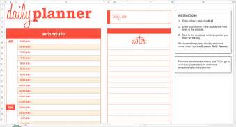 Day Planner Template Excel Basic Daily Planner Excel Template Savvy Spreadsheets