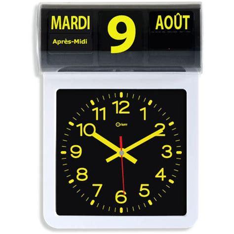 horloge murale avec date et jour guide comparatif des horloges et pendules 224 grand affichage