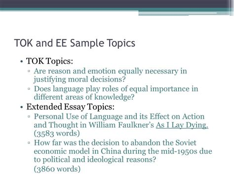 Extended Essay Language B by International Baccalaureate The Extended Essay Ppt