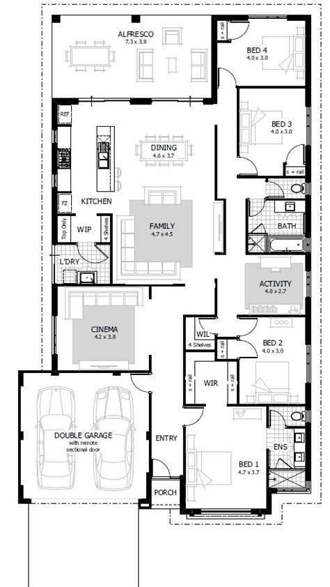 floor plans for 4 bedroom houses simple 4 bedroom house designs homes floor plans
