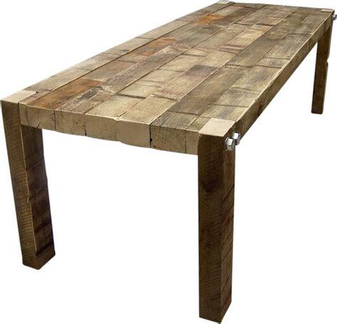 tafel van balken tafel nicky van oude balken met draadeinden tafels oude