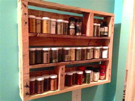 build a spice rack from pallets diy pallet wood spice rack 101 pallets