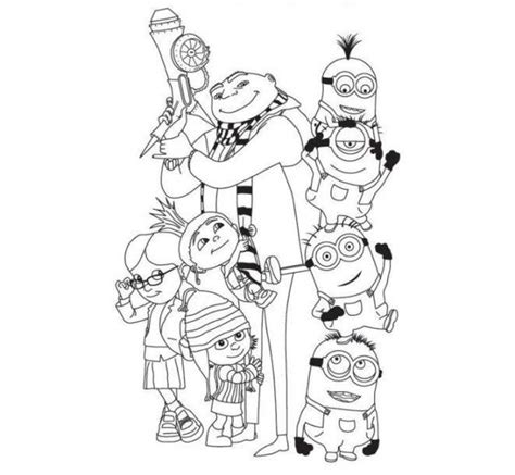 free printable coloring pages despicable me despicable me coloring pages coloring home