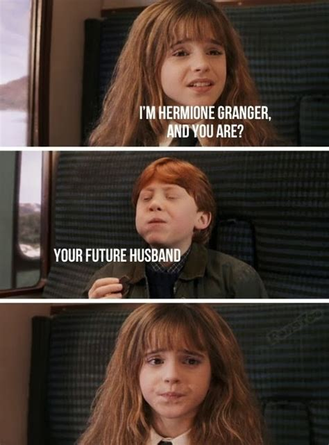 Hermione Meme - harry and hermione harry y hermione dark brown hairs