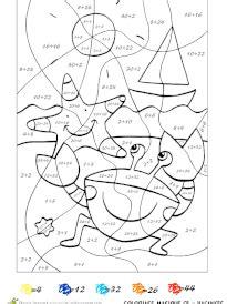 Coloriage Magique Vacances Niveau Cp 224 Imprimer Sur