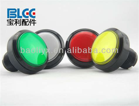 Outbow Plastic Push Button 60mm plastic push button switch electric pushbutton switch with light momentary large