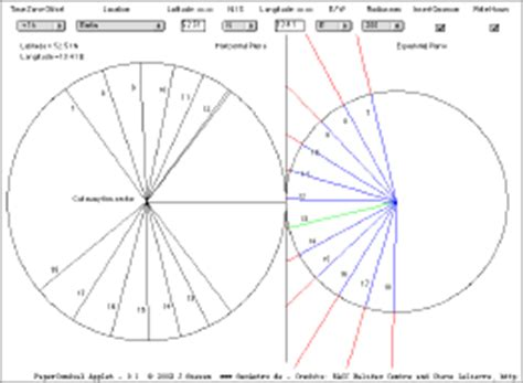 How To Make A Sundial With A Paper Plate - geoastro applet collection part 6 sundials