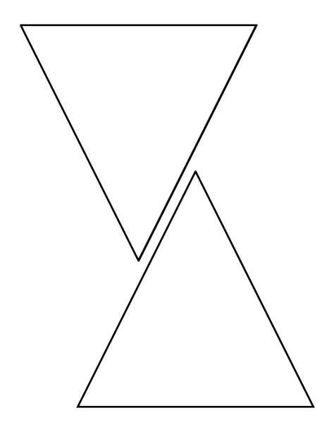 Pin By Muse Printables On Printable Patterns At Patternuniverse Com Triangle Template Free Printable Triangle Banner Template