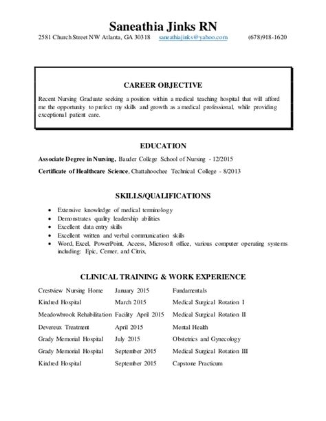 new grad nurse resume no experience dadaji us rn with ooder co
