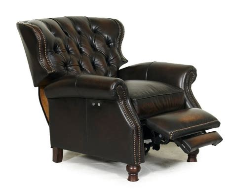 Real Leather Recliner Chairs Barcalounger Presidential Ii Genuine Leather Power