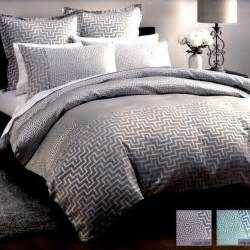 Charcoal Grey Comforter Jacquard Silk Harrington Charcoal Grey Silver Queen Quilt