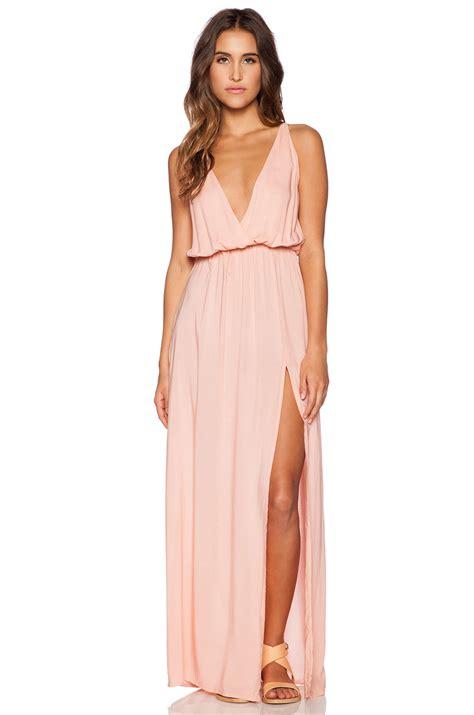 Maxi Lifa A pink and blue maxi dress