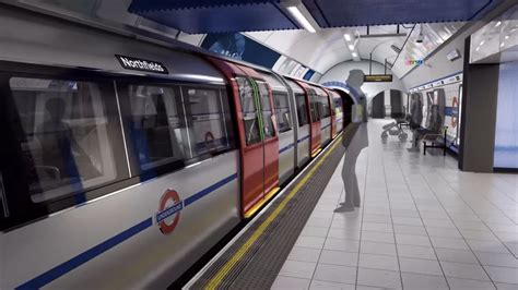 from the platform 2 the new tube for london the driverless train with a driver