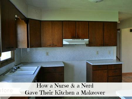 kitchen makeover bye bye white hello bold blue an old kitchen gets a new look for less than 1 500