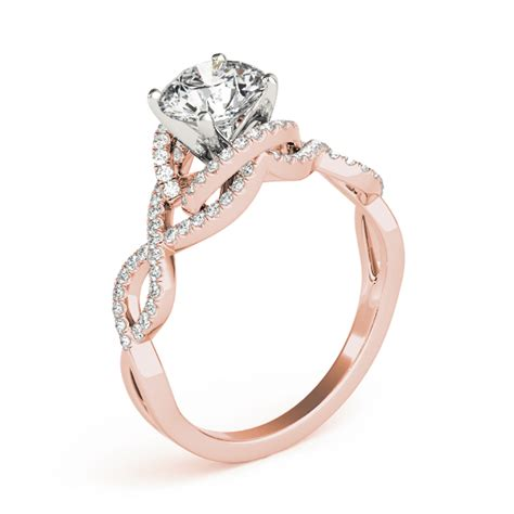 intertwined engagement rings from mdc diamonds nyc