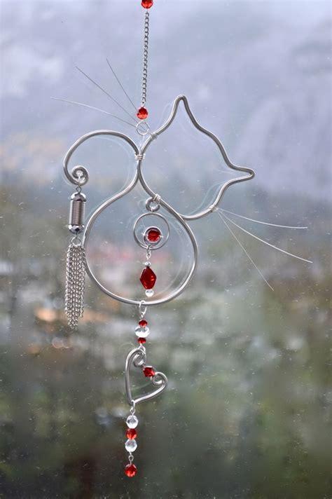 cat suncatchers prisims cat sun jewels unique gifts