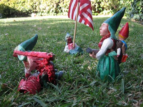 garden gnomes infect your home with flesh eating monster zombie gnomes