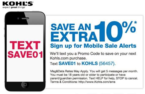 email format of kohls kohls mobile sale alerts who said nothing in life is free