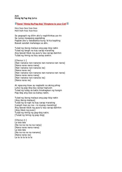 asin himig ng pag ibig with lyrics asin
