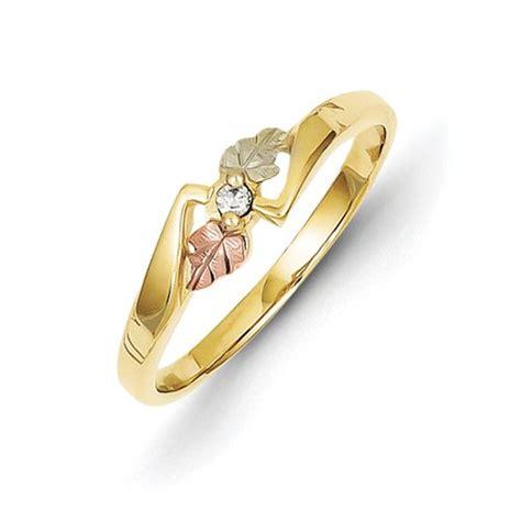 black gold promise rings black gold