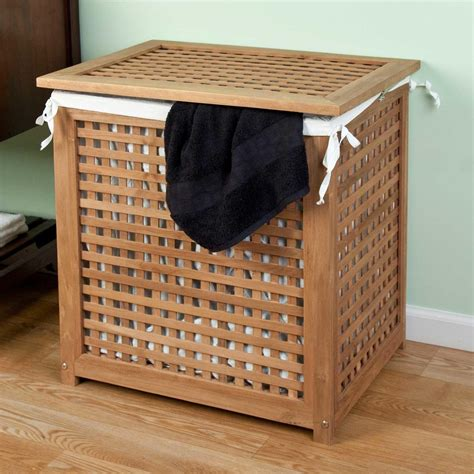 Teak Wooden Laundry Basket Sierra Laundry Create Round Laundry Wood