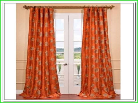orange patterned curtains image gallery orange curtains