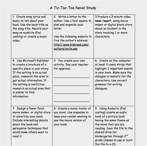 tic tac toe menu template 1000 images about learning menus on teaching