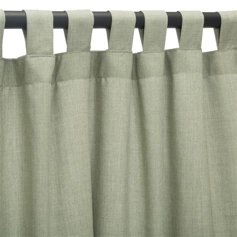 curtains cast cast oasis sunbrella outdoor curtains with tabs