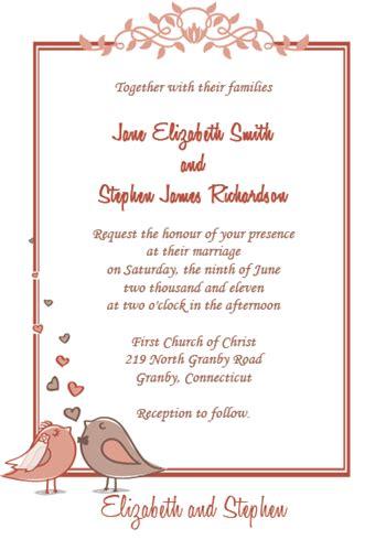 free wedding invitation generator แจกเทมเพลตการ ดแต งงานเก ๆ ร บป ใหม 2014