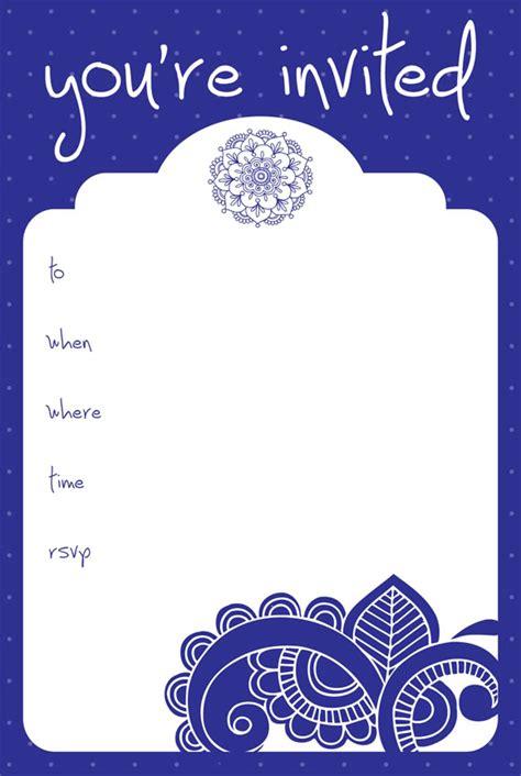 vintage invitation card template frame design for card vintage