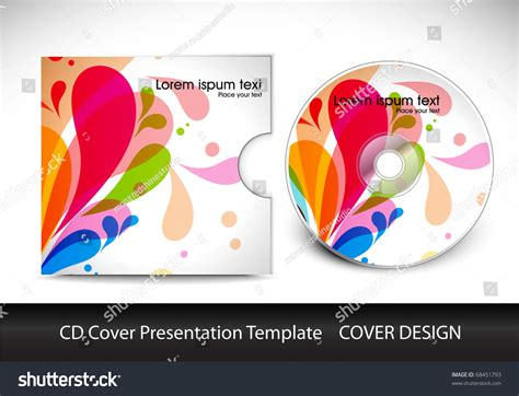 cd cover design template cd cover layout design template preview editable stock