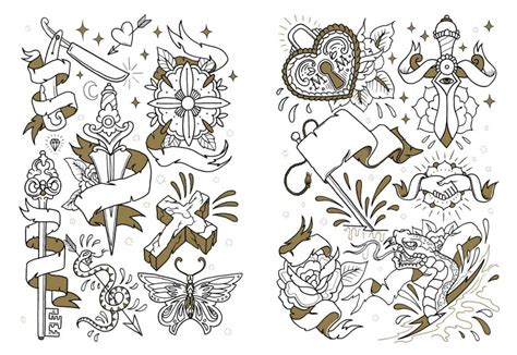 tattoo flash colouring book the tattoo coloring book