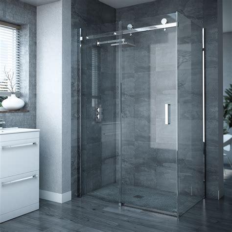 Frameless Sliding Door Shower Enclosures Frameless Sliding Door Panel Enclosure At Plumbing Uk