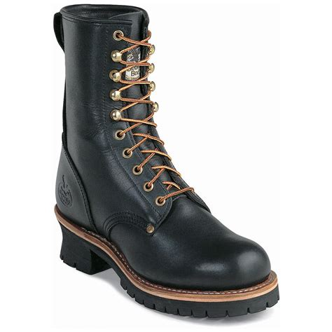 s boot 174 8 quot safety toe loggers black 96153
