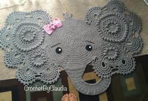 elephant rug for nursery elephant rug crochet rug nursery decor